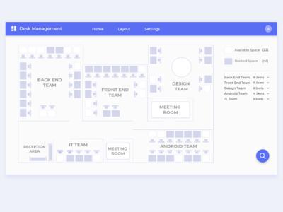 Office Desk Management Dashboard concept