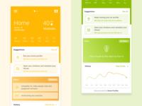 Air-Quality app design created using figma.