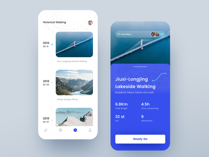 Happy walking travel ui app 实践