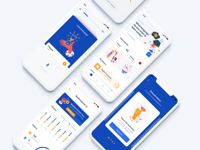 Language Learning App gif motion interaction android modern clean application design red white blue exploration app mobile mobile app mobile ui ui education app language learning language uidesign
