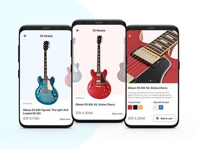 Guitar shop app