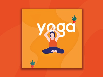 Flexible girl yoga Illustration