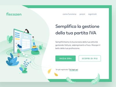 Fiscozen - Home Page homepage digitaldesign illustration