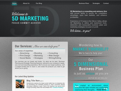 5D Marketing Website