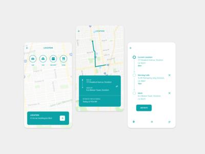 Car Pool App Design Concept