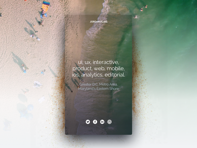 At The Beach shadow beach personal iphone product traffic mobile animation interactive ux ui