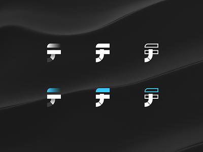 Logo Iteration flaig jf f j brand mark logo ux ui