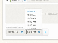 Time Scheduler Drop Down