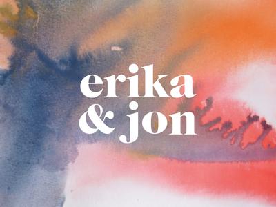 Wedding Watercolors color typography serif watercolor wordmark logo wedding