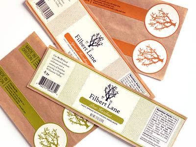Filbert Lane Labels illustration packaging labels logo identity branding