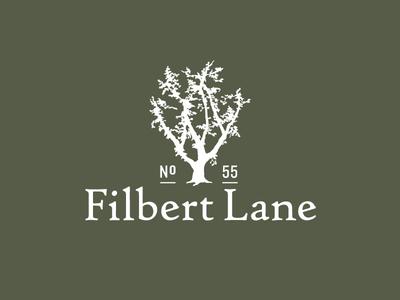 Filbert Lane Logo tree illustration identity logo branding
