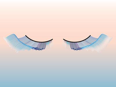 Shu Uemura Eyelashes eyelashes beauty gradient vector illustration