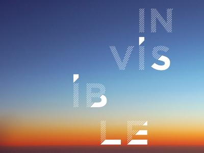 Type + Photo Study lettering typography type sunset sky gradient