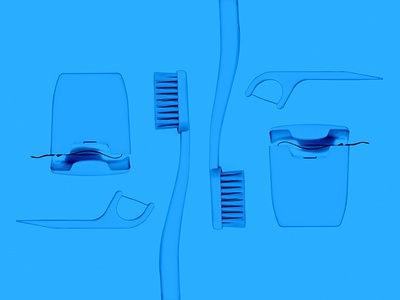 Image for a dental clinic site dentist symmetry collage blue