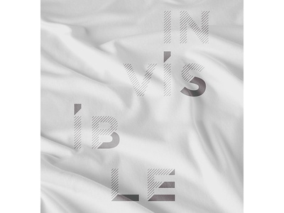 Invisible Type Study 2 gray typography type exploration lettering