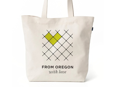 From Oregon With Love Branding tote identity logo branding