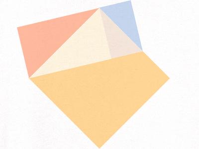 Geometry Study orange shapes squares color geometry