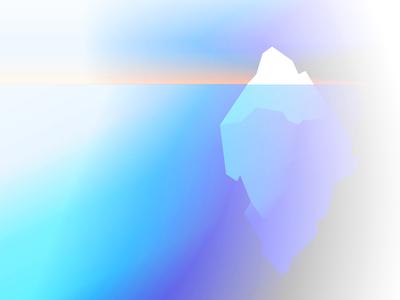 Happy accidents sunrise blue purple color illustration vector gradient
