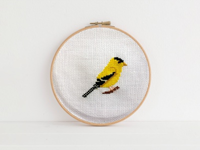 Cross Stitch American goldfinch hand skills american goldfinch bird embroidery cross stitch