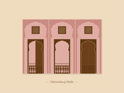 Pune Vishrambaug wada Window window the window project illustration