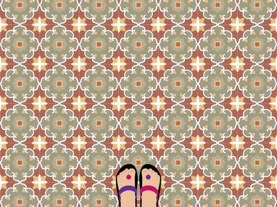 Vintage Floor Tile tiles floor tile vintage graphic design illustration