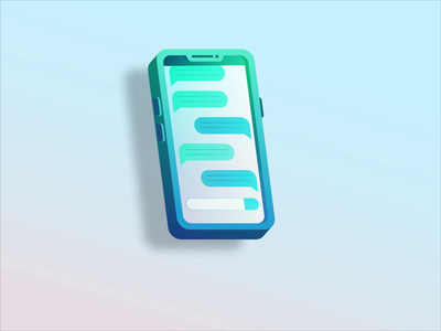 Notification vector notification message minimal flat design adobe aftereffects icon animation ui