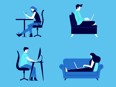 Work Mode on graphic design ui logo icon adobe aftereffects illustration flat minimal design