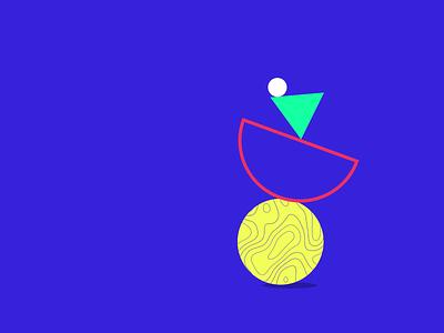 Geometric shapes loader 2 shapes animation graphic design ui icon adobe aftereffects illustration flat minimal design