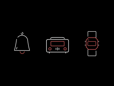 Time elements set 3 motion graphics animation graphic design ui icon adobe aftereffects illustration flat minimal design
