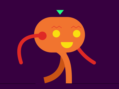 Happy Pumpkin pumpkin halloween logo animation icon adobe aftereffects illustration flat minimal design