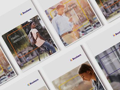 Bookem - rebrand tech cape town logotype vector brand graphic design branding logo identity design