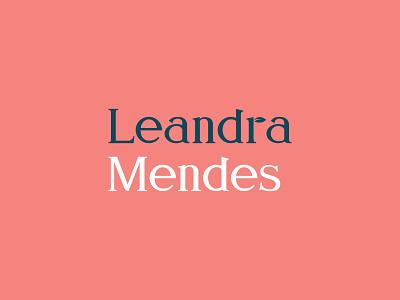 Leandra Mendes - logo option cape town typography logotype vector brand graphic design branding logo identity design