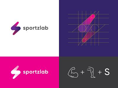 Sportzlab mark typography logotype vector brand graphic design branding logo identity design