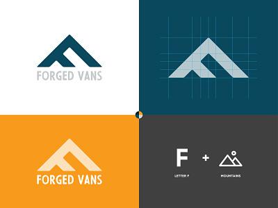 Forged Vans - logo icon mark cape town brand graphic design branding logo identity design