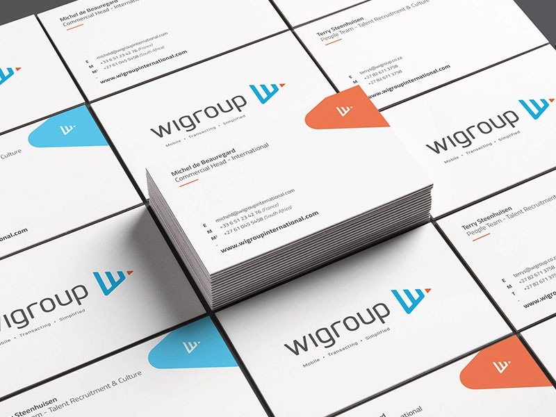 Wigroup Business Cards By Rowan Toselli Dribbble Dribbble