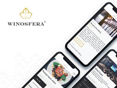 Winosfera package mobile branding ux ui design