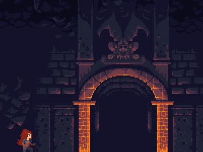Demon's Temple Tile Set pixel art