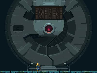 Airlock Entrance indie game pixel art game metroidvania