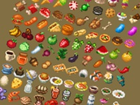 Pixel Art - Food Items Preview