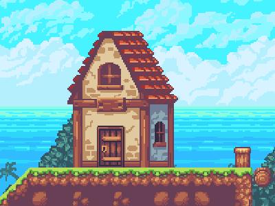 House pixelart pixel art game art tile set