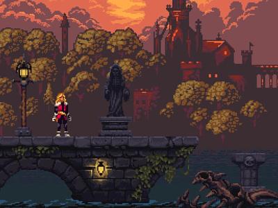 GothicVania Pixel Art castlevania snes pixel game dev pixel art