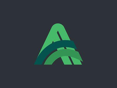 A - turf management logo letter letter icon design monogram icon typography branding logo