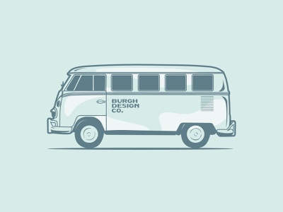 VW Bus icon type drawing vector illustration
