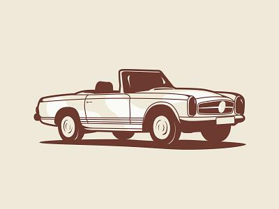 Mercedes Bens 280SL drawing vector design illustration