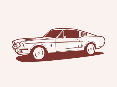 Ford Mustang drawing design vector illustration