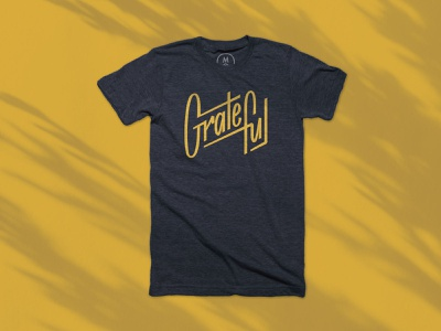 Grateful - T-shirt positivity tshirt handlettering lettering logo design typography