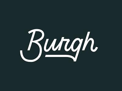 Burgh Wordmark Exploration identity design logo branding wordmark handlettering handlettered hand letter