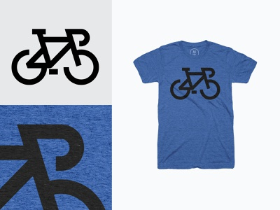 Biking T-shirt biking illustration icon design logo tshirt apparel