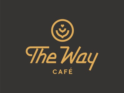 The Way Cafe handlettered retro custom lettering wordmark vector typography letterforms handlettering lettering identity branding design illustration logo