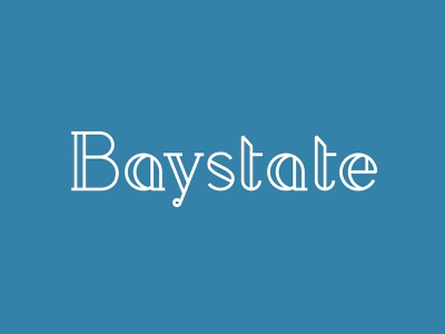 Baystate - wordmark logo custom lettering letterforms handlettering lettering wordmark vector typography branding design